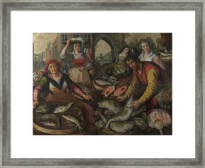 The Four Elements - Water Framed Print by Joachim Beuckelaer