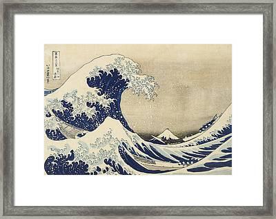 The Great Wave Framed Print by Katsushika Hokusai