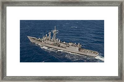 The Guided-missile Frigate Uss Reuben Framed Print by Stocktrek Images