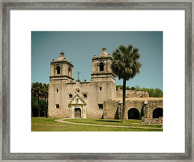 The Historic Mission Concepcion In San Antonio Framed Print by Mountain Dreams
