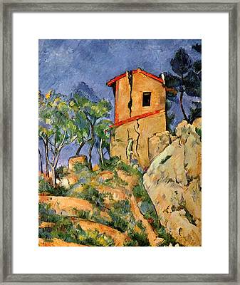 The House With Cracked Walls Framed Print by Paul Cezanne