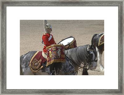 The Kettledrums Of Household Cavalry Framed Print by Andrew Chittock