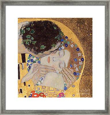 The Kiss Framed Print by Gustav Klimt