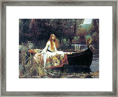 The Lady Of Shallot Framed Print by John William Waterhouse