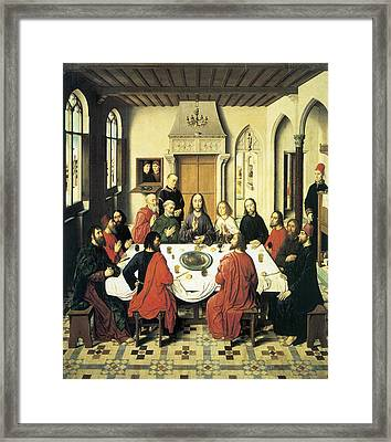 The Last Supper Framed Print by Dieric Bouts