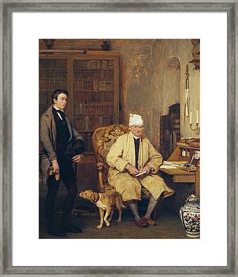 The Letter Of Introduction Framed Print by David Wilkie