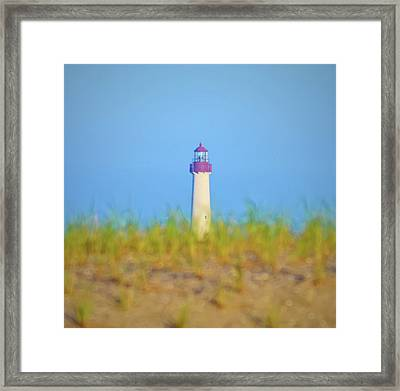 The Lighthouse At Cape May Framed Print by Bill Cannon