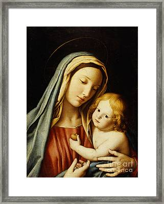 The Madonna And Child Framed Print by Il Sassoferrato