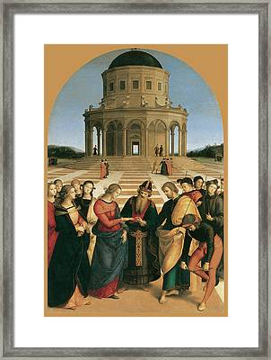 The Marriage Of The Virgin Framed Print by Raphael