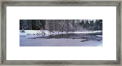 The Merced River In Winter, Yosemite Framed Print by Panoramic Images