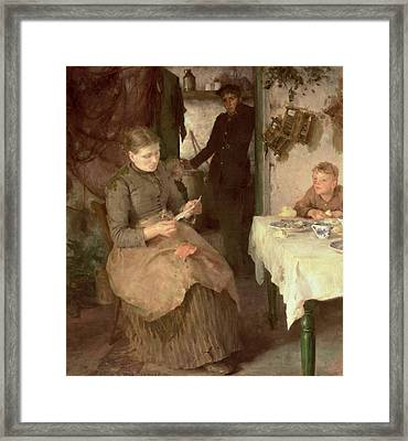 The Message Framed Print by Henry Scott Tuke
