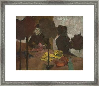 The Milliners Framed Print by Edgar Degas
