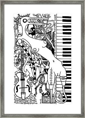 The Music Was Like Electric Sugar Framed Print by Kelly Jade King