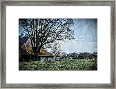 The Old Barn Framed Print by Bonnie Bruno