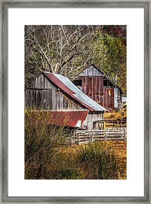 The Old Farm Framed Print by Debra and Dave Vanderlaan