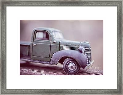 The Old Farm Truck Framed Print by Edward Fielding