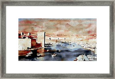 the Old Port of Marseille Framed Print by Jean Francois Gil