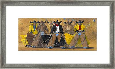 The Posse Framed Print by Lance Headlee