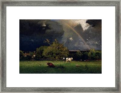 The Rainbow  Framed Print by George Inness