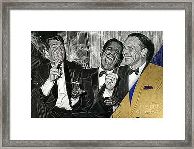 The Rat Pack Collection Framed Print by Marvin Blaine