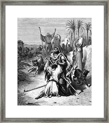 The Return Of The Prodigal Son Framed Print by Gustave Dore