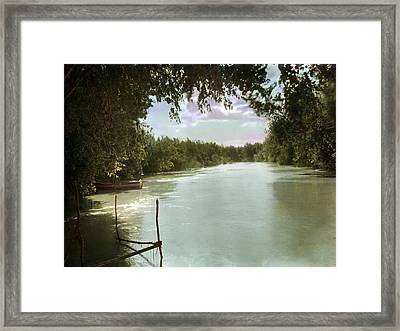 The River Jordan, Holy Land, Jordan Framed Print by Everett