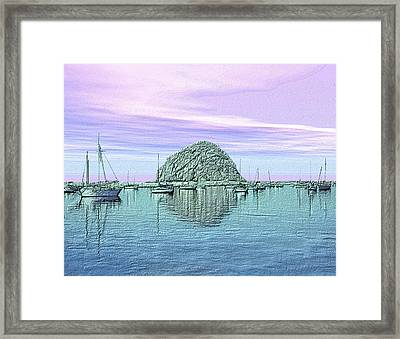 The Rock Framed Print by Kurt Van Wagner