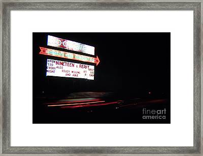 The Roosevelt Drive Inn Framed Print by Corky Willis Atlanta Photography