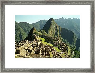 The Ruins Of Machu Picchu, Peru, Latin America Framed Print by Brian Caissie