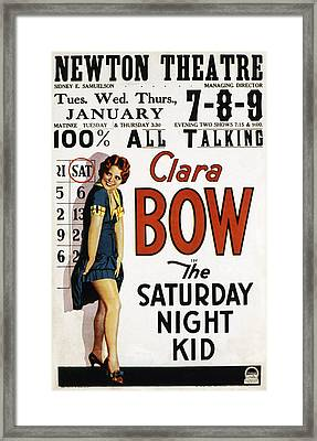 The Saturday Night Kid, Clara Bow, 1929 Framed Print by Everett