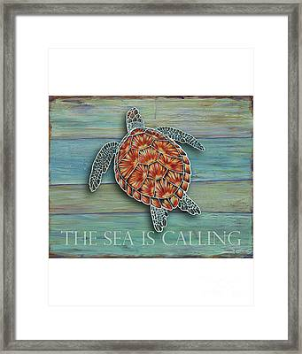 The Sea Is Calling Framed Print by Danielle Perry