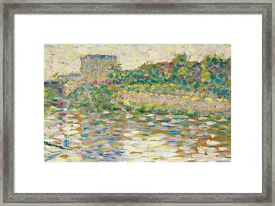 The Seine At Courbevoie  Framed Print by Georges-Pierre Seurat