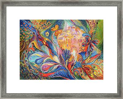 The Spirit Of Jerusalem Framed Print by Elena Kotliarker