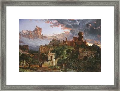 The Spirit Of War Framed Print by Jasper Francis Cropsey