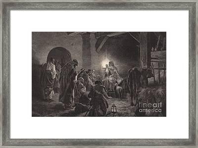 The Star Of Bethlehem Framed Print by English School