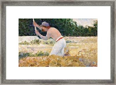 The Stone Breaker Framed Print by Georges Pierre Seurat