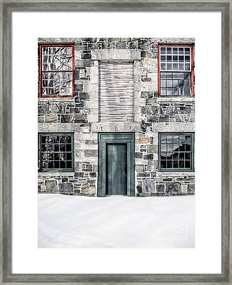 The Stone Mill Enfield Nh Framed Print by Edward Fielding