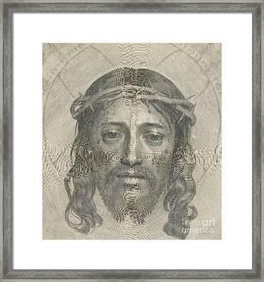 The Sudarium Of Saint Veronica Framed Print by Claude Mellan