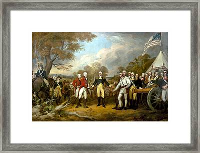 The Surrender Of General Burgoyne Framed Print by War Is Hell Store