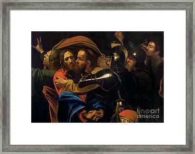 The Taking Of Christ Framed Print by Michelangelo Caravaggio