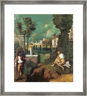 The Tempest Framed Print by Giorgione