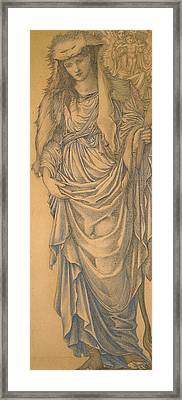 The Tiburtine Sibyl  Framed Print by Edward Burne-Jones