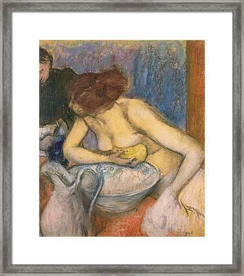 The Toilet Framed Print by Edgar Degas