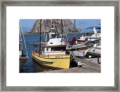 The Trudy S Morro Bay California Framed Print by Barbara Snyder