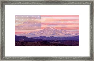 The Twin Peaks - 9-11 Tribute Framed Print by James BO  Insogna