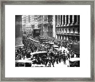 The Wall Street Crash 1929 Framed Print by American School