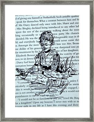 The Writer At Work Framed Print by The Doodle Box