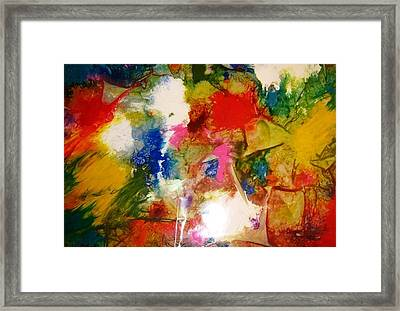 Think Pink Framed Print by Fatima Pardhan