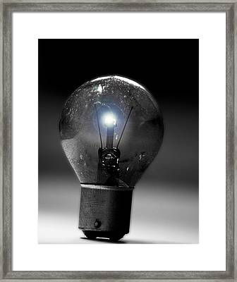 Thinking Bulb Framed Print by Martin Newman