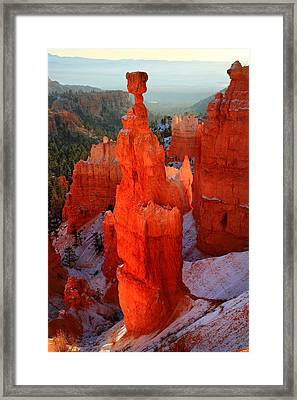 Thor's Hammer In Bryce Canyon Framed Print by Pierre Leclerc Photography